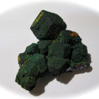Malachite pseudomorphose de cuprite, Adolf Mine, Rudabánya, Hongrie.