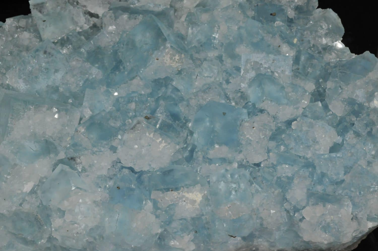 Blue fluorite from the Burc mine (at the Burg, Tarn, France)