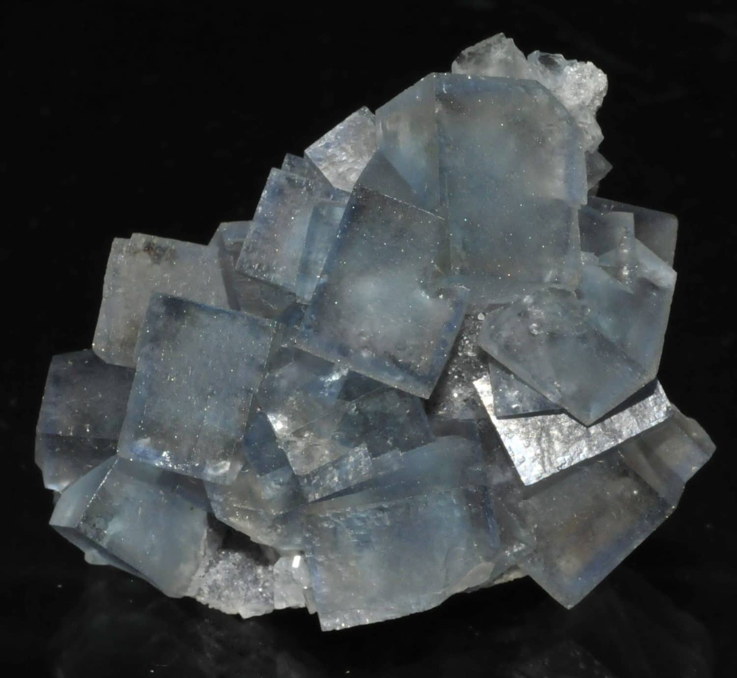 Blue fluorite from the Burc mine (Burg, Tarn, France).