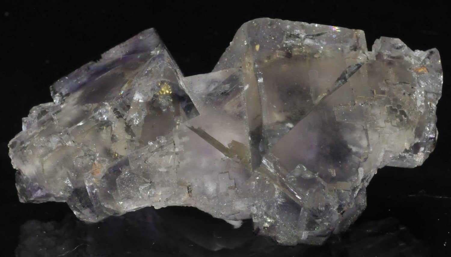 Fluorite with phantom crystals from Elmwood (Tennessee, USA)