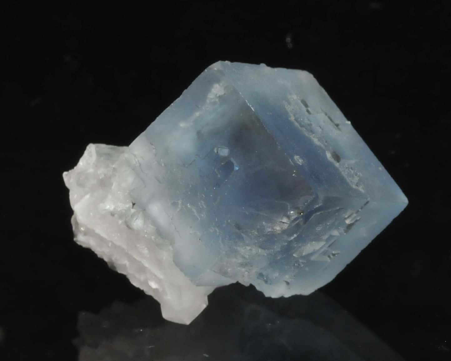 Blue fluorite from the Burc mine in Tarn, France
