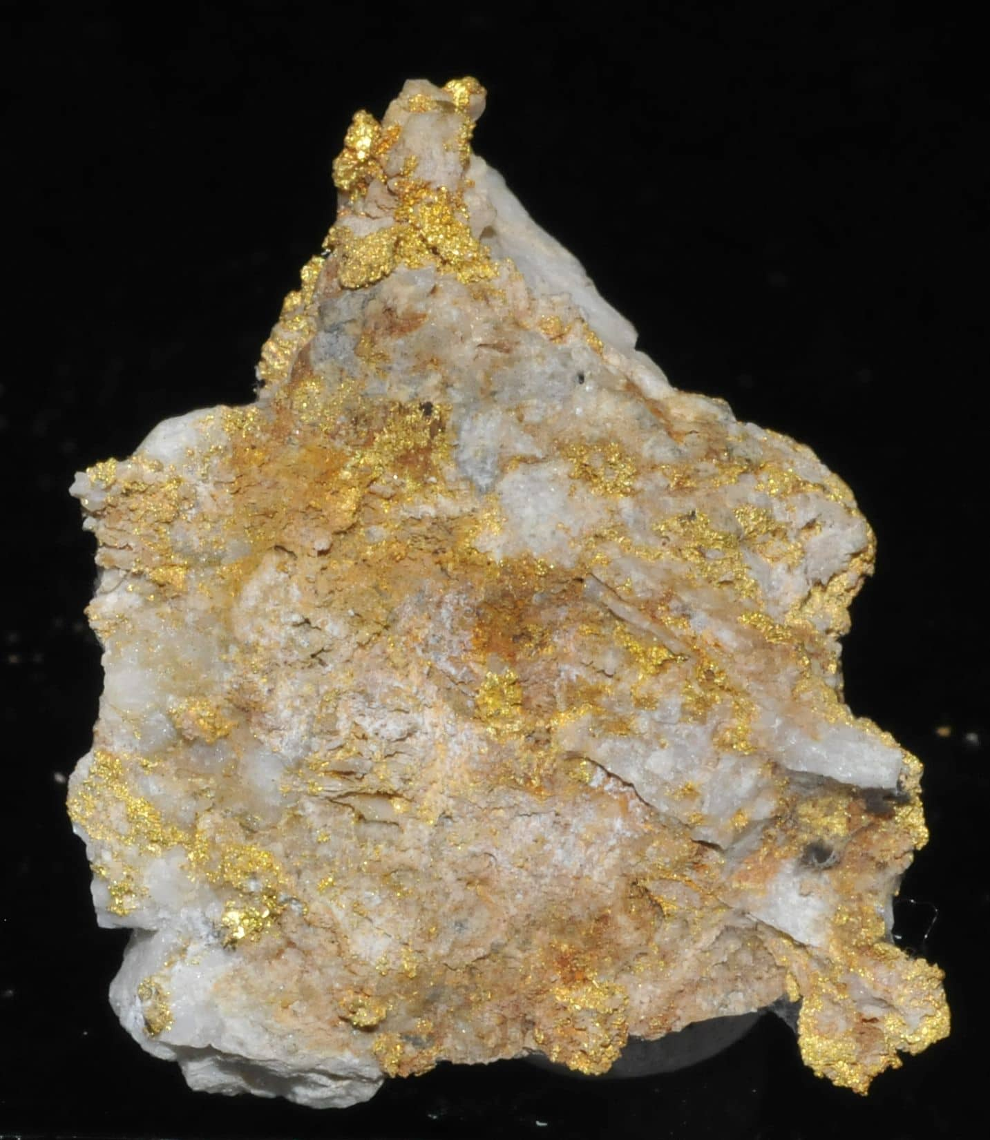 Native gold in quartz from Venezuela