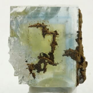 Fluorite jaune et bleue de la mine du Burc (au Burg - Tarn)